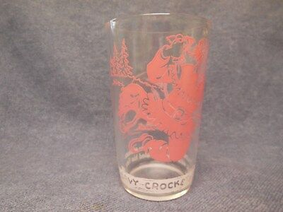 Vintage Davy Crockett 1950'S Jelly Glass Ol' Grumpy Bear