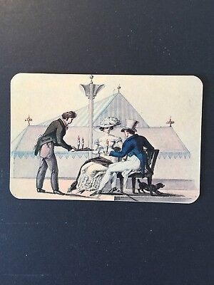 Advertising Card For A Vienna Coffee House Where Customers Could Sit Outside