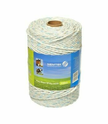 Nemtek Poly Rope 200m. Electric Fencing Rope.