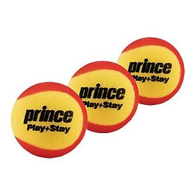 Prince Play & Stay Stage 3 Foam Tennis Balls (3 Balls per Pack) New