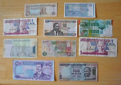 RARE Vintage Discontinued World International Money Currency Paper Note Coin Lot