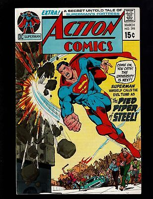 Action Comics 398 Vf 8.0 Pied Piper Of Steel Fortress Of Solitude N.adams