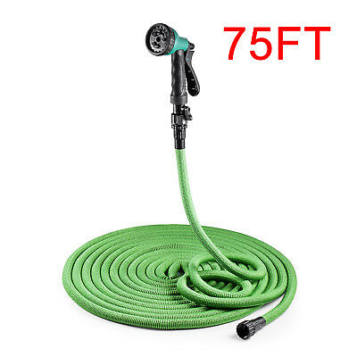 50FT Garden Water Hose 3X Expandable Flexible Magic Pipe with Spray Gun Shooter