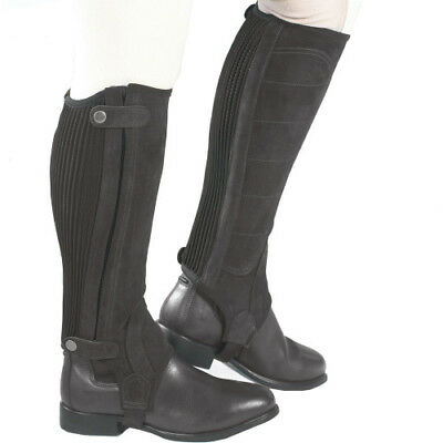 Just Togs Comfort Fit Suede Half Womens Footwear Chaps - Black All Sizes