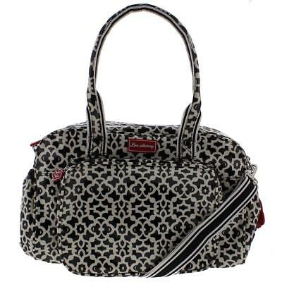 Lou Harvey 7458 Diana B/W Coated Canvas Printed Diaper Bag Large BHFO