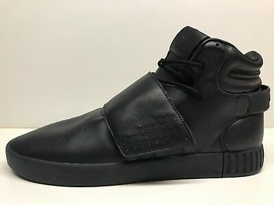 Adidas Originals Tubular Invader Strap Shoes Triple Black BB1169 - Size 12
