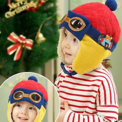 Cap 6M 4Y Aviator Cool Kids Baby Toddler Hat Beanie Earflap Warm Winter K Gift