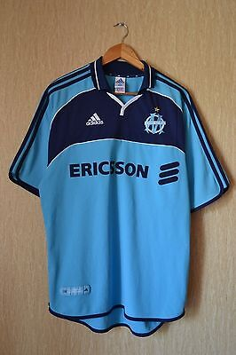 Olympique Marseille France 2000/2001 Away Football Shirt Jersey Maillot Adidas