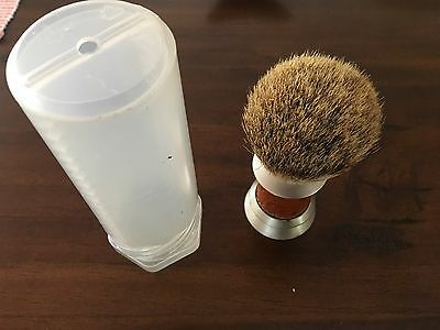 silvertip badger shave brush ostrich stainless with carry case