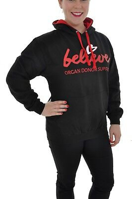 Adults Hoodie With Believe Logo Various Sizes - Believe Organ Donor Support