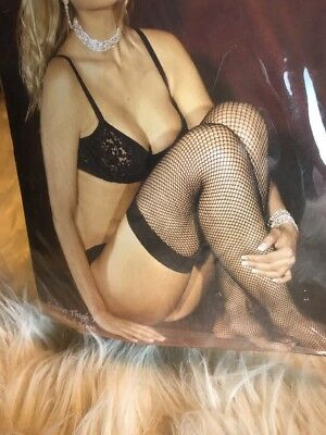 NEW Elegant Moments FishNet Thigh Hi Stockings With Back Seam Fish Net