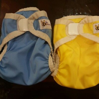 Baby Beehinds PUL Baby Nappy Covers with Aplix closure Size Large x 2