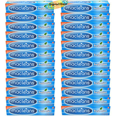 24x Macleans Freshmint Flouride Plaque Toothpaste 125ml