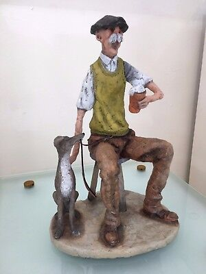 Walking the Dog by Grant Palmer, Sculpture, Quick Pint, Beer, Young at Heart