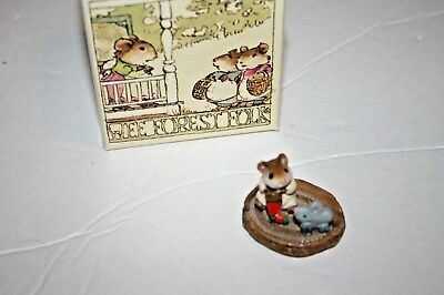 Wee Forest Folk M-93 FIRST CHRISTMAS WFF Mice Mouse figurine 1983 stocking toy