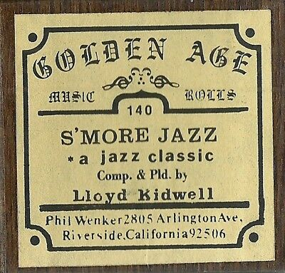 S'More Jazz. played by Composer Lloyd Kidwell, Dinarecord Piano Roll rct GA 140