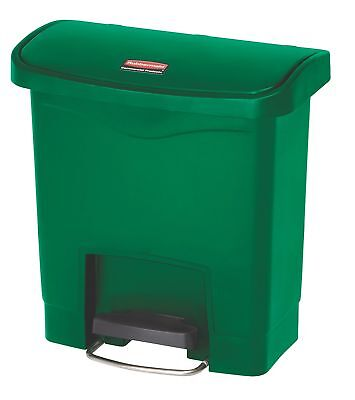 Rubbermaid Commercial Slim Jim Front Step-On Trash Can, Plastic, 4 Gallon... New