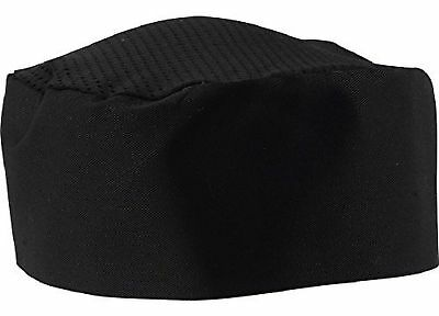 Black Chef Hat - Adjustable. One Size Fit Most.(6) 6 New