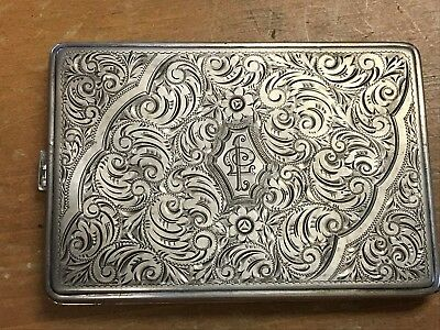Vintage 800 Silver Cigarette Case 164.7 Grams (Fits business cards)