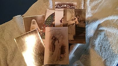 Lot de 6 cartes postales Communion 9x14 cm