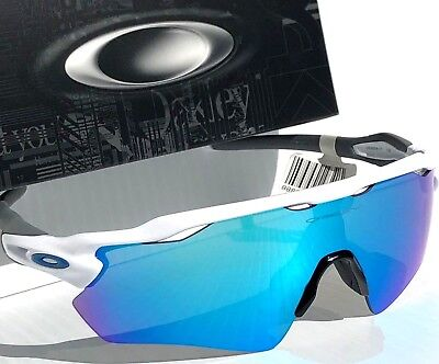 NEW* Oakley RADAR EV PATH WHITE Blue Sapphire Blue mirror lens Sunglass 9208-17