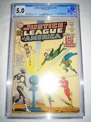 JUSTICE LEAGUE OF AMERICA # 12 CGC 5.0 OW - ORIGIN & 1st APPEARANCE OF DR. LIGHT