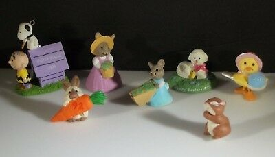 Vintage LOT Merry Miniatures Hallmark Spring Collectibles & Easter Beagle 1994