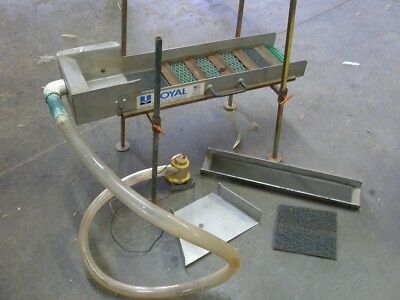 Used Royal sluice box with stand and pump
