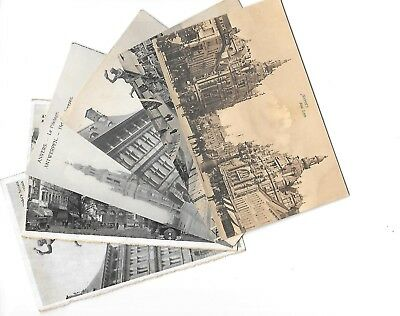 Lot surprise de 6 Cartes Postales Anciennes (Anvers)