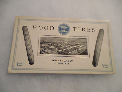 Vintage Advertising Blotter Hood Tires Jamaica Glove Co. Lisbon NH Tire Auto