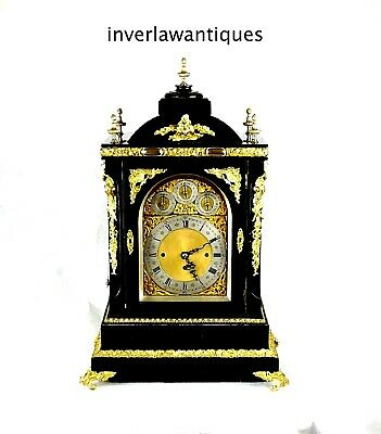 A Massive 74cm 8 Bells Victorian Ebonised & Gilt Musical Repeating Bracket Clock