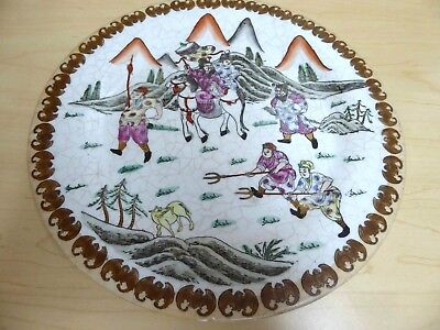 REDUCED Vintage Chinese Decorative Plate Hand-Painted Marked Diameter 10.5\  & Plates China Asian Antiques Antiques Page 29 | PicClick