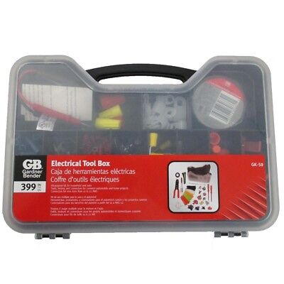 Electrical Tools Set Kit with Box Storage Case Connectors Crimper Testers