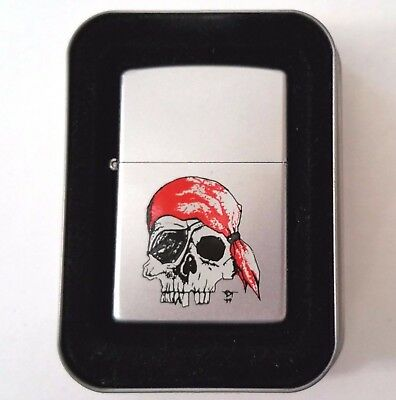 Zippo Lighter Gothic Skulls Tattoo American Hardcore Pirate 2000 New w/ Sleeve