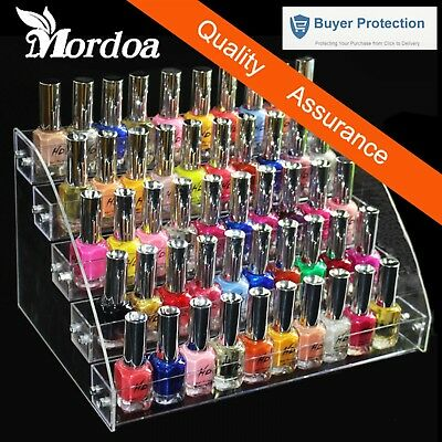 5 Tiers Cosmetic Makeup Nail Polish Varnish Display Stand Rack Holder Booking