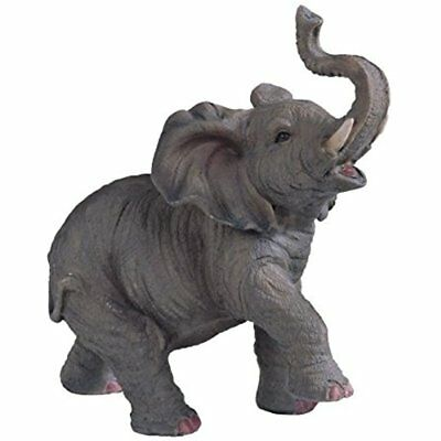 """Collectible Figurines SS-G-54135 Small Polyresin Elephant With Trunk Up 6.5"""" New"""