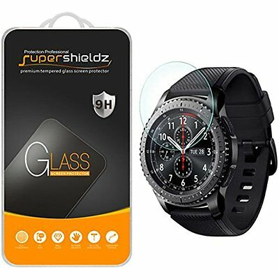 "Accessories 2-Pack For Samsung Gear S3 Frontier Tempered Glass Screen ""Full NIP"