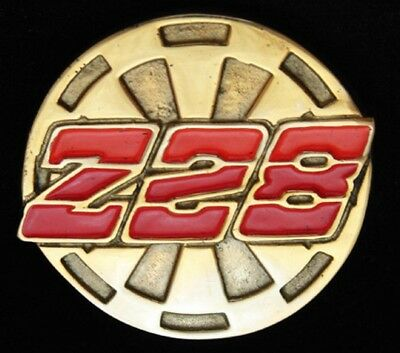 OE01170 *NOS* VINTAGE 1970s BARON **Z28** CHEVY CAMARO GM SOLID BRASS BUCKLE