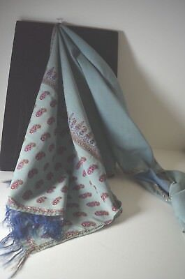 Majestic Antique Hand Woven Embroidered Paisley Scarf Shawl From India Tt548