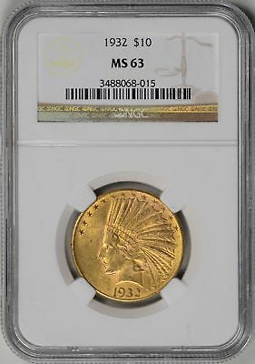 1932  $10 Gold Indian  NGC  MS63  *  #3488068-015