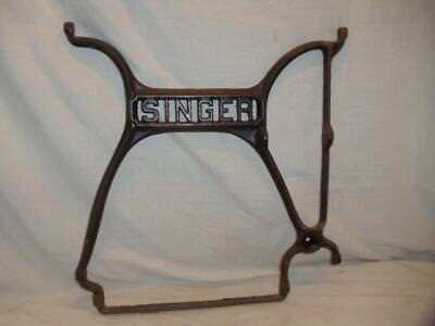 Antique Singer Treadle Sewing Machine Cabinet Cast Iron Center Frame Leg Brace