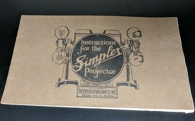 35mm Simplex Movie Projector Instruction, Parts, Price and Service Manual 1921