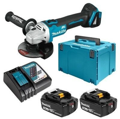 Makita 18V Cordless Brushless 125mm Angle Grinder Combo Kit