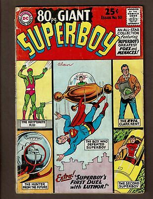 80 PAGE GIANT SUPERBOY 10 VG+ 4.5 GA SA REPRINTS LEX 1st DUEL GREATEST FOES OF