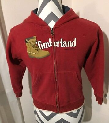 Timberland Youth Size 6 Boys Red Hoodie