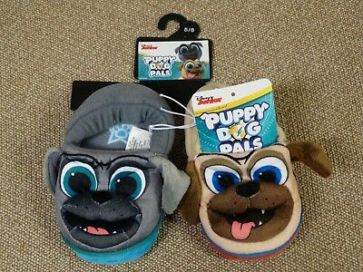Puppy Dog Pals Slippers ~ Toddler Boys 5/6 ~ Bingo Rolly ~ Disney Shoes ~ New!