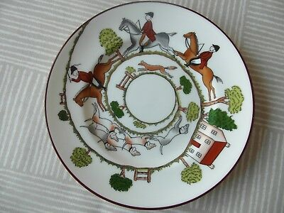 Crown Staffordshire Hunting Scene  Side Plate    2
