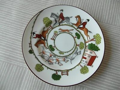 Crown Staffordshire Hunting Scene  Side Plate    1