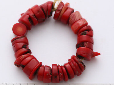 30 seltene antike Korallen Perlen 14 mm Coral Trade Beads Nigeria West-Afrika