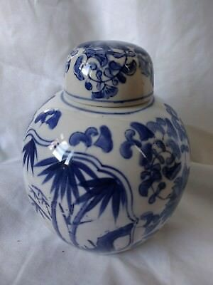 antique/vintage chinese ginger jar blue and white